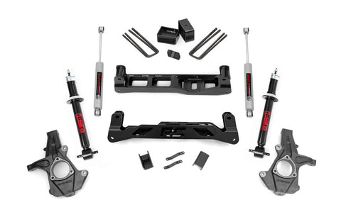 5in GM Suspension Lift Kit w/N2.0 Shocks & Struts (14-17 1500 PU 2WD | Cast Steel)