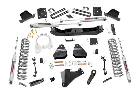 6in Ford Suspension Lift Kit (17-19 F-250/350 4WD | Diesel | 4in Axle | w/ Overloads)