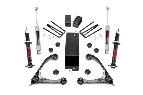 3.5in GM Suspension Lift Kit w/ Forged Upper Control Arms | N2.0 Struts & Shocks (07-13 1500 PU 4WD | Aluminum)