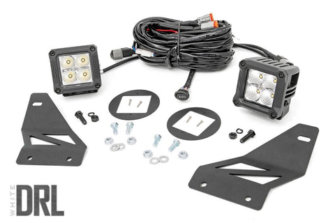 Nissan LED Fog Light Kit | Chrome Series w/ Cool White DRL (05-19 Frontier)