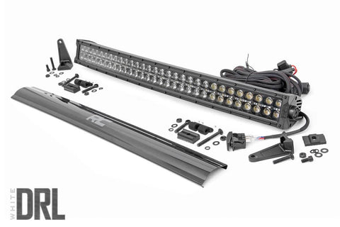 30-inch Curved Cree LED Light Bar - (Dual Row | Black Series w/ Cool White DRL)