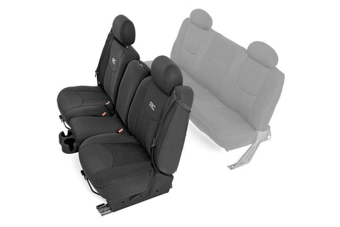 GM Neoprene Front Seat Cover | Black [99-06 Chevy 1500]