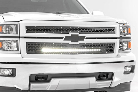 Chevy Mesh Grille w/30in Black Series LED (14-15 Silverado 1500)
