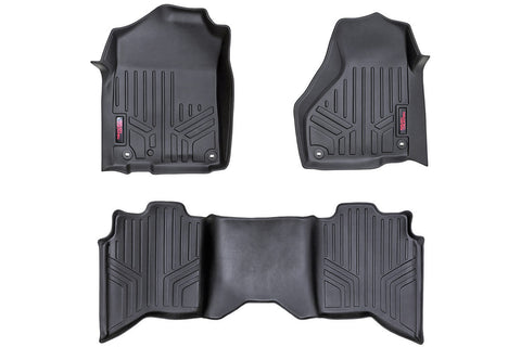 Heavy Duty Floor Mats [Front/Rear] - (2019 Dodge Ram | Crew Cab | Full Console)