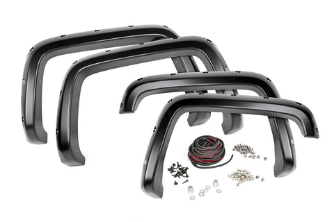 Chevrolet Pocket Fender Flares | Rivets | Black (14-15 Silverado 1500 - 6.5' / 8' Bed)