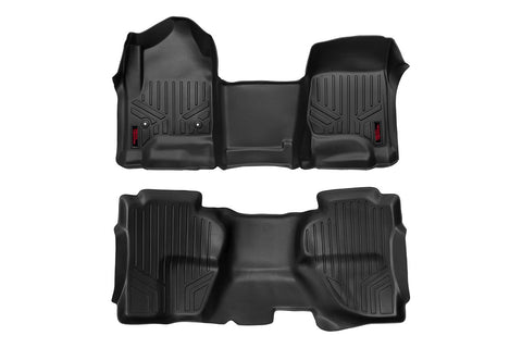 Heavy Duty Floor Mats [Front/Rear] - (14-18 Chevy Silverado / GMC Sierra Double Cab)