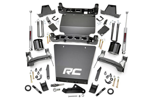 7in GM Suspension Lift Kit | Strut Spacers (16-18 1500 PU 4WD | Stamped Steel)