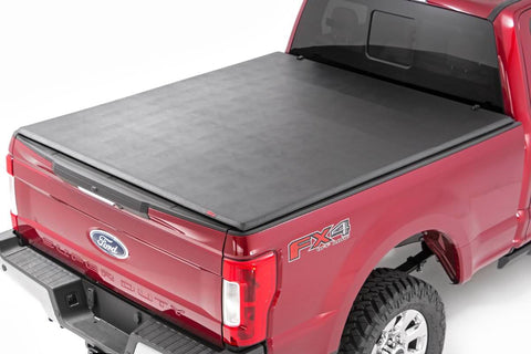 Ford Soft Tri-Fold Bed Cover (17-19 Super Duty - 8' Bed)