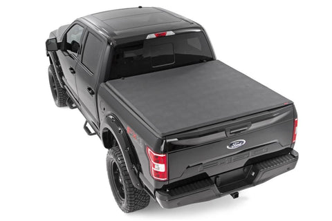 "Ford Soft Tri-Fold Bed Cover (15-19 F-150 - 6' 5"" Bed w/o Cargo Mgmt)"
