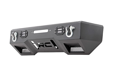 Jeep Front Stubby LED Winch Bumper | Black Series (07-18 Wrangler JK)