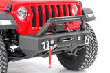 Jeep Front Stubby LED Winch Bumper w/Hoop | Chrome Series (18-19 Wrangler JL)