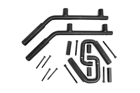 Jeep Solid Steel Grab Handle Set (07-18 Wrangler JK | Black)