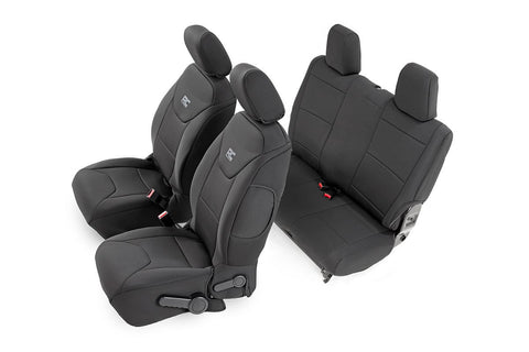 Jeep Neoprene Seat Cover Set | Black [11-12 Wrangler JK | 2 Door]