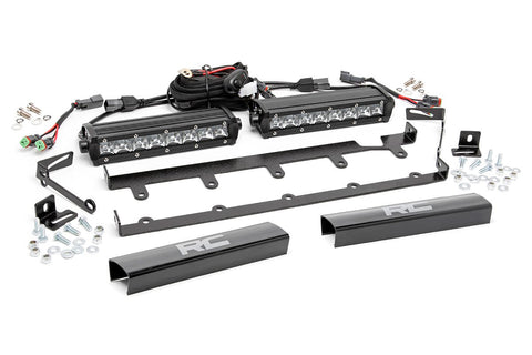 Jeep 8in Vertical LED Grille Kit (2PC - Chrome Series | 07-18 Wrangler JK)