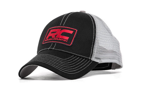 Rough Country Mesh Hat - Black & Gray
