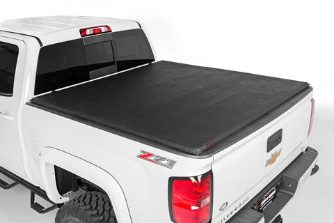 "GM Soft Tri-Fold Bed Cover (2019 1500 PU - 5' 8"" Bed w/o Cargo Mgmt)"