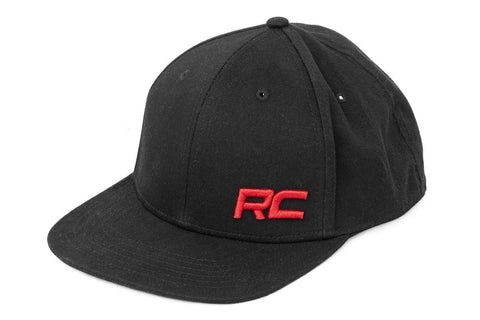 Rough Country Flat Bill Hat - Black