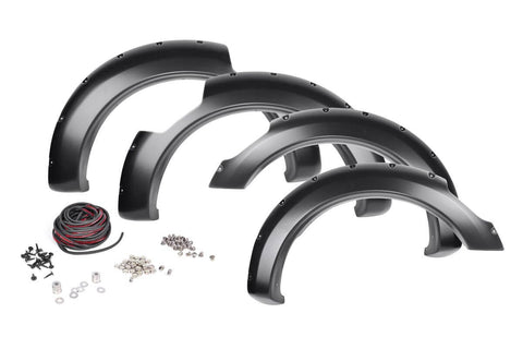 Nissan Pocket Fender Flares | Rivets | Unpainted (17-19 Titan King Cab)