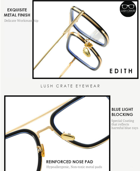 Edith Blue Light Blocking Lens Lush Crate Eyewear