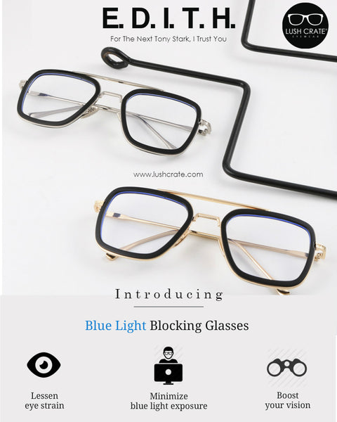 Edith Blue Light Blocking Glasses Lush Crate