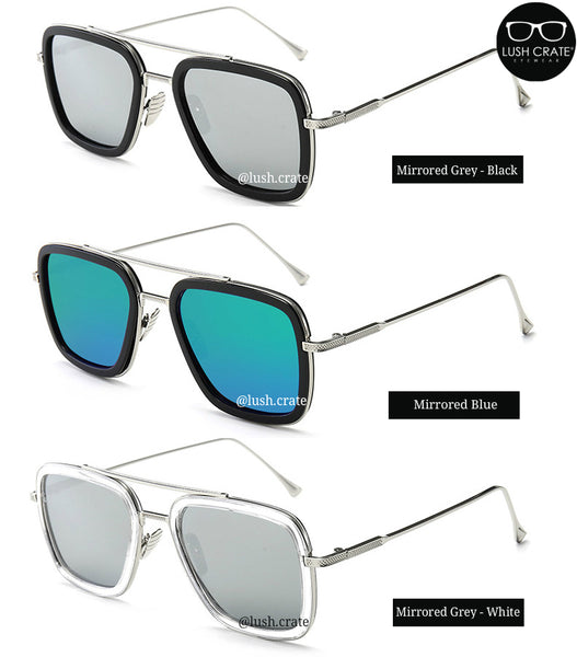 EDITH Mirrored Lens Sunglasses Reflective - Lush Crate Eyewear