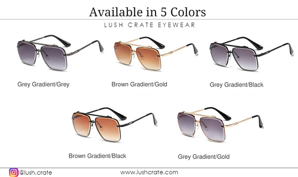 Luxury Navigator Sunglasses-Lush-Crate-Men-Women-Summer-Color-Variance