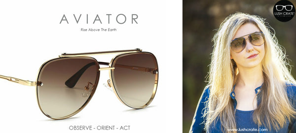 Mach Aviator Sunglasses Women Lush Crate