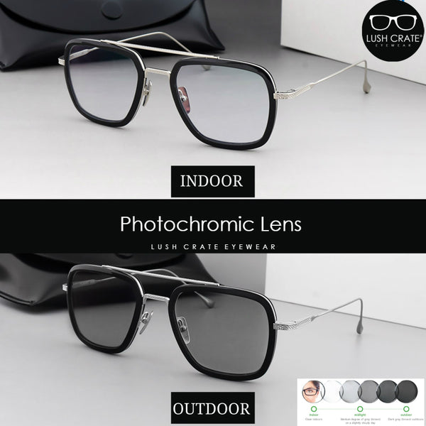 Photochromic Lens EDITH Sunglasses Tony Stark Lush Crate Eyewear