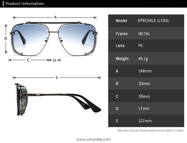 Mach Speciale Navigator Sunglasses Size Chart