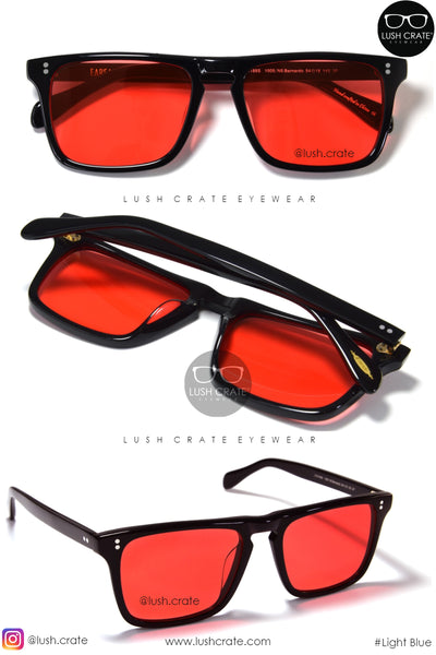 Iron Man Tony Stark Robert Downey Jr Red Square Polarized Sunglasses