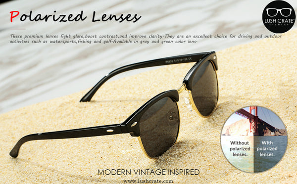 Giorno Classic - Polarized Semi Rimless Sunglasses