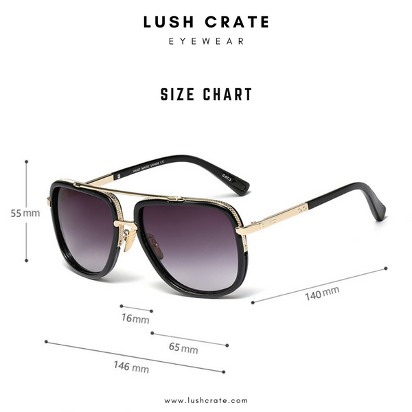 Wide Frame Retro Size Chart Lush Crate