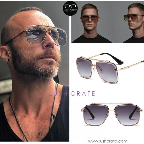 Luxury Navigator Sunglasses Lush Crate Men Summer-New-Collection