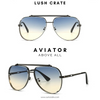 Mach Aviator Sunglasses Lush Crate Eyewear