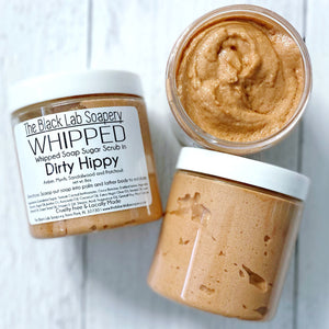 WHIPPED - Sugar Scrub Soap - Dirty Hippy - The Black Lab Soapery