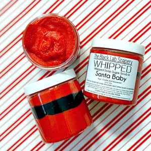 WHIPPED - Sugar Scrub Soap - Santa Baby - The Black Lab Soapery