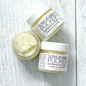 PUCKER - Lip Scrub - Coconut Milk - The Black Lab Soapery