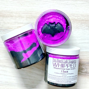 WHIPPED - Sugar Scrub Soap - I Suck - The Black Lab Soapery