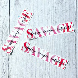 STICKER - Savage - The Black Lab Soapery