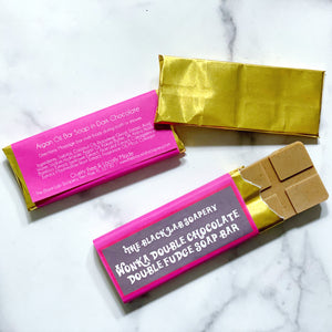 Wonka Collection - Wonka Double Chocolate Double Fudge Bar - The Black Lab Soapery