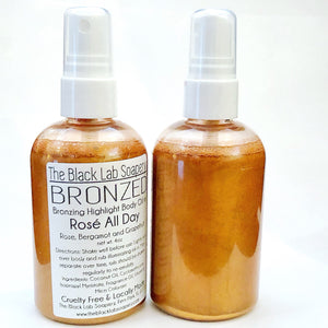 CLEARANCE - BRONZED - Bronzing Highlight Body Oil - The Black Lab Soapery
