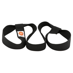 yoga mat strap in black