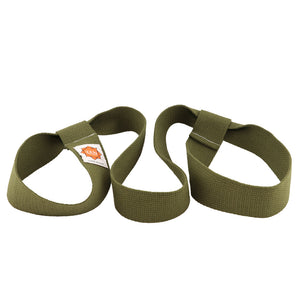 yoga mat strap in olive