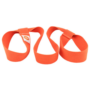 yoga mat strap in orange
