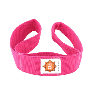 fuchsia pink colored zen yoga strap