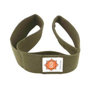olive colored zen yoga strap