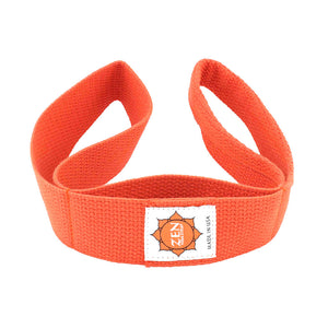 orange colored zen yoga strap