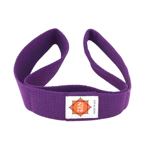 purple colored zen yoga strap
