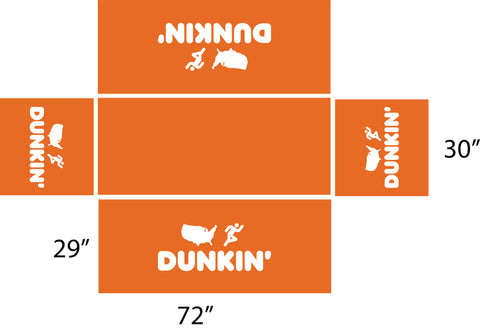 Dunkin 6' Orange Fitted Table Cover