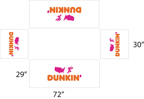 Dunkin 6' White Fitted Table Cover